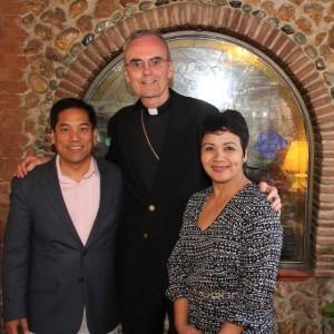 Bishop Paul R. Sanchez with Roger & Ruby Aguinaldo