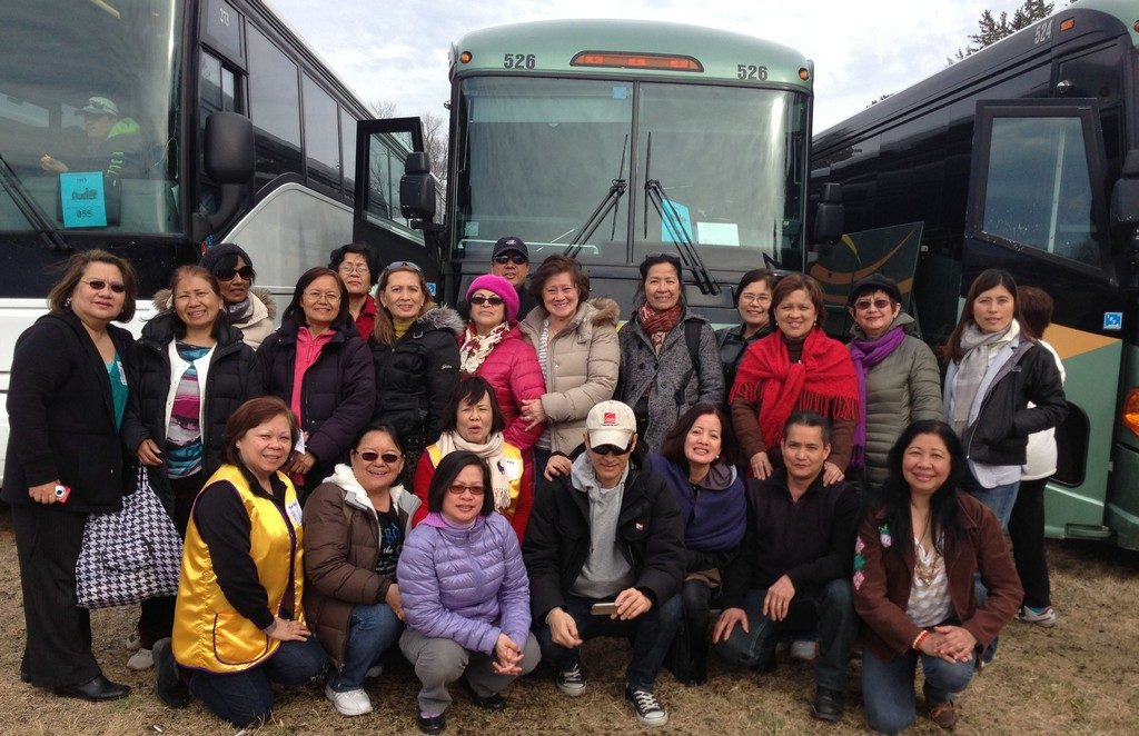 Join members of the Charismatic Prayer Group (pictured from their 2013 pilgrimage)