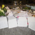 OLQM Petitions placed at stream at Grotto