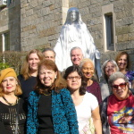 Single Adults Group Coordinator Denise DeMaria front and center (in blue)