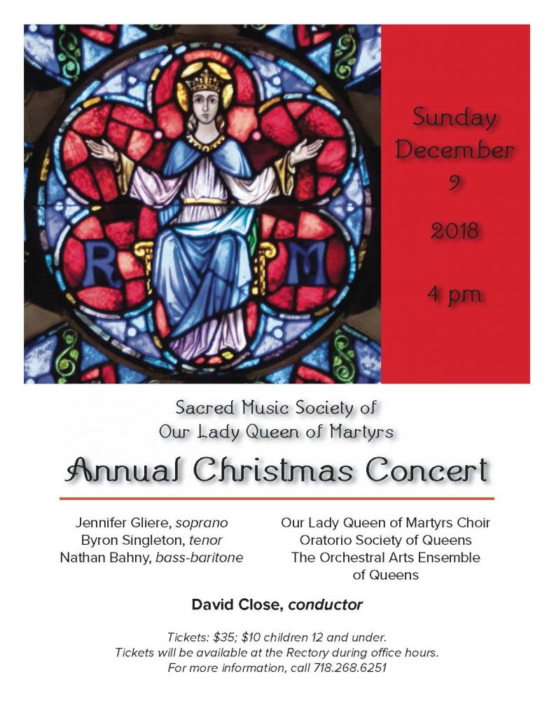 Our Lady Queen of Martyrs | Annual Christmas Concert