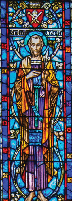 St. Joseph stained glass window in our church