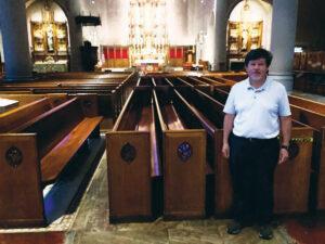Deacon Daniel Garcia, who heads maintenance at our church