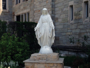 The Mary Garden Statue at OLQM