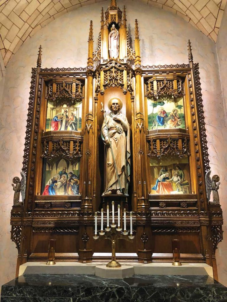 St. Joseph altar in our church